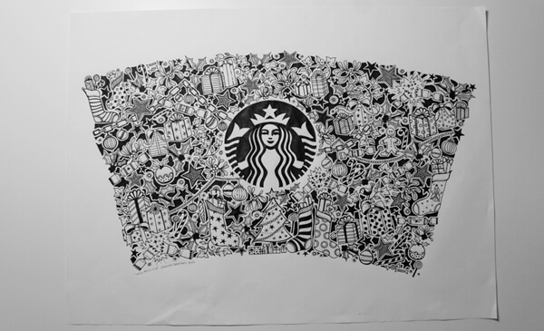 Drawn starbucks doodle Basford Starbucks Basford Red Cup