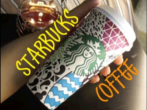 Drawn starbucks doodle YouTube Coffee Cup Doodle
