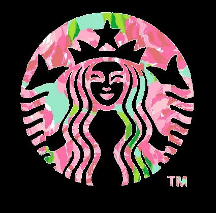 Drawn starbucks pink tumblr Wallpapers Stickers me pulitzer Pine