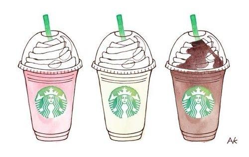 Drawn starbucks pink tumblr Starbucks My wallpaper Search tumblr