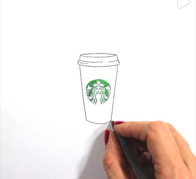 Drawn starbucks simple And  cute Starbucks drawing