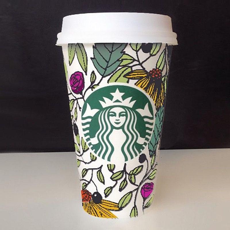 Drawn starbucks simple Contest Cup it's Winning Starbucks