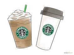 Drawn starbucks simple & Macaroons Order Starbucks at