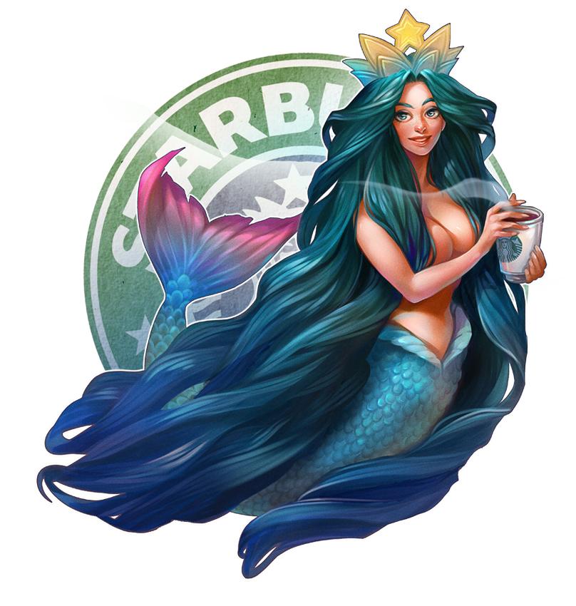 Drawn starbucks tail Mermaid mermaid / / kittycatkissurebloggedcubesona