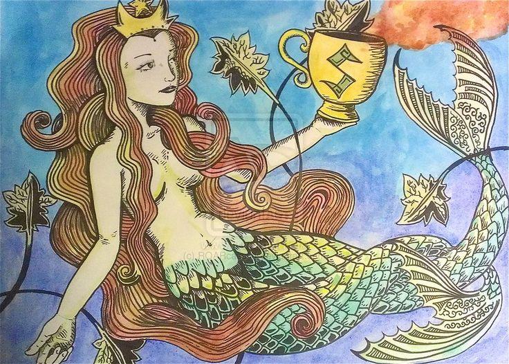 Drawn starbucks tail Tailed on on of Mermaid