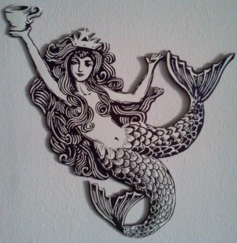 Drawn starbucks tail Starbucks models Ideas mermaid starbucks