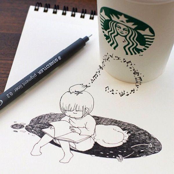 Drawn starbucks tomoko shintani Best shintani about Tomoko Shintani