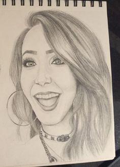 Drawn starbucks zoella // #FineLimePortraits #JennaMarbles Zalfie drawing