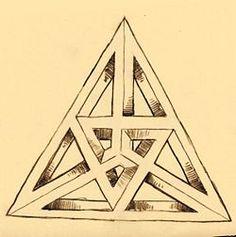 Drawn stare penrose A onmogelijke Penrose TriangleDrawing to