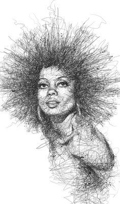 Drawn stare scribble Behance book Tiga on Pinterest
