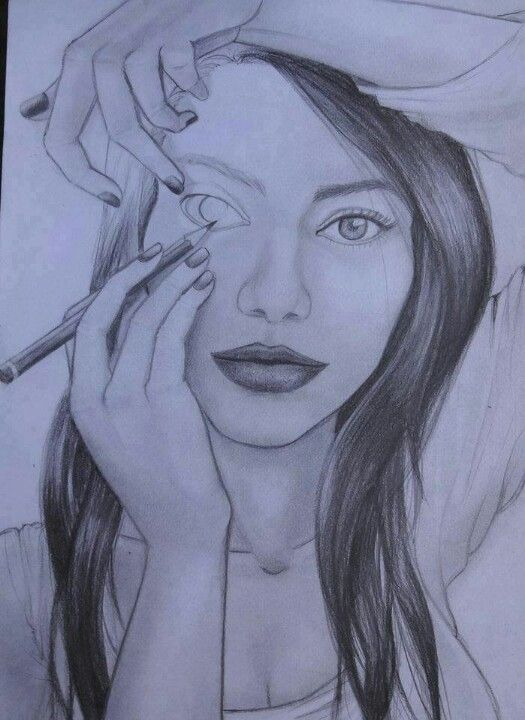 Drawn stare shaded Best Instagram portrait Universe Cartoon