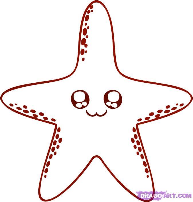 Drawn starfish  to FREE a Starfish