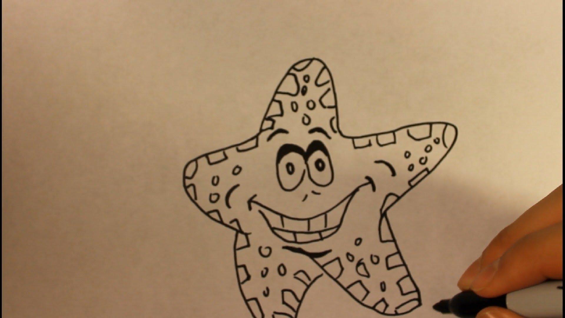 Drawn starfish animated Step Step Draw For Step