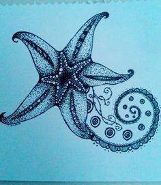 Drawn starfish blue starfish Deviantart  here Starfish 1