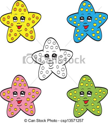 Drawn starfish cartoon Cute Cute cute An