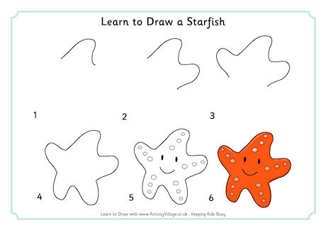 Drawn starfish cute Creatures Draw  to Sea