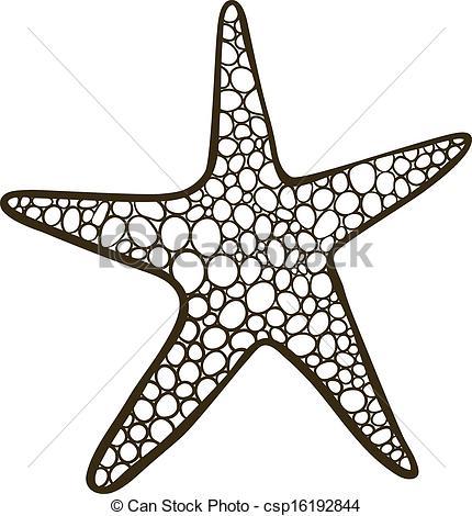 Drawn starfish doodle Csp16192844 (outline Starfish Starfish of