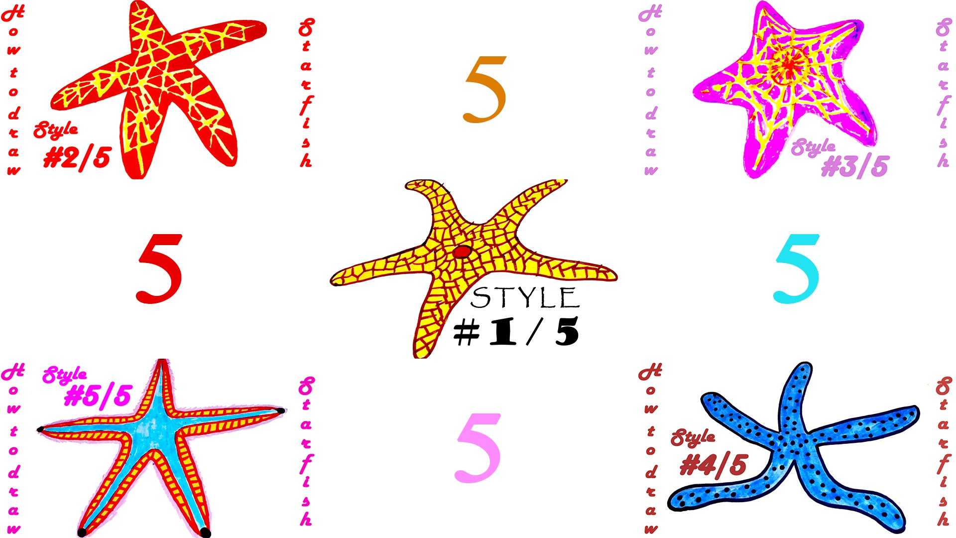 Drawn starfish easy And #MrUsegoodART a to Draw