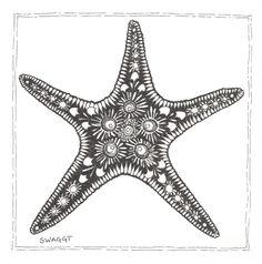 Drawn starfish printable  Fine Starfish Starfish tattoos