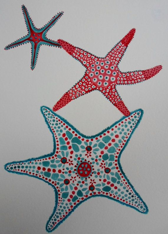 Drawn starfish aquatic life Painting Acrylic Pinterest Seated 20+