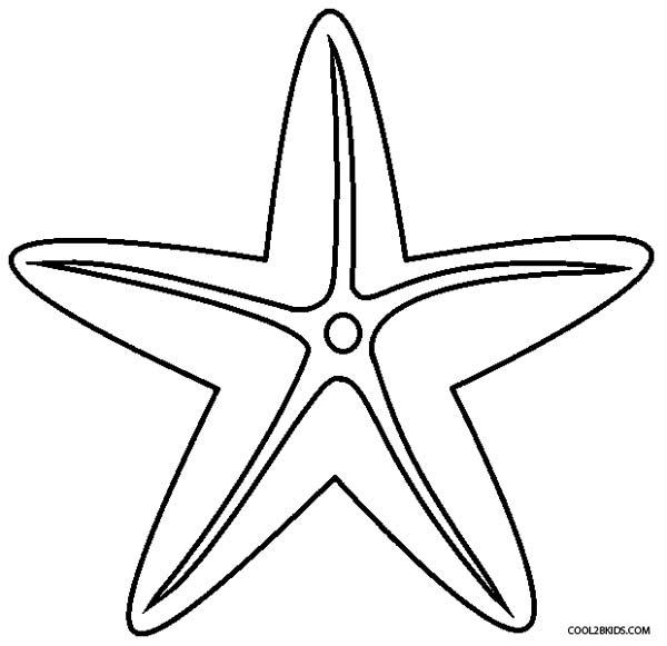 Drawn starfish printable Printable Coloring Starfish For Starfish