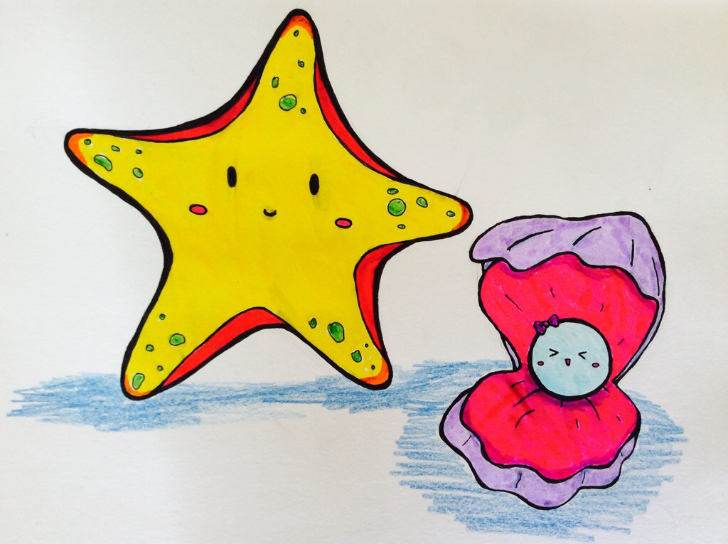 Drawn starfish sea creature 071015 Animals 20140620 25815494 Drawing