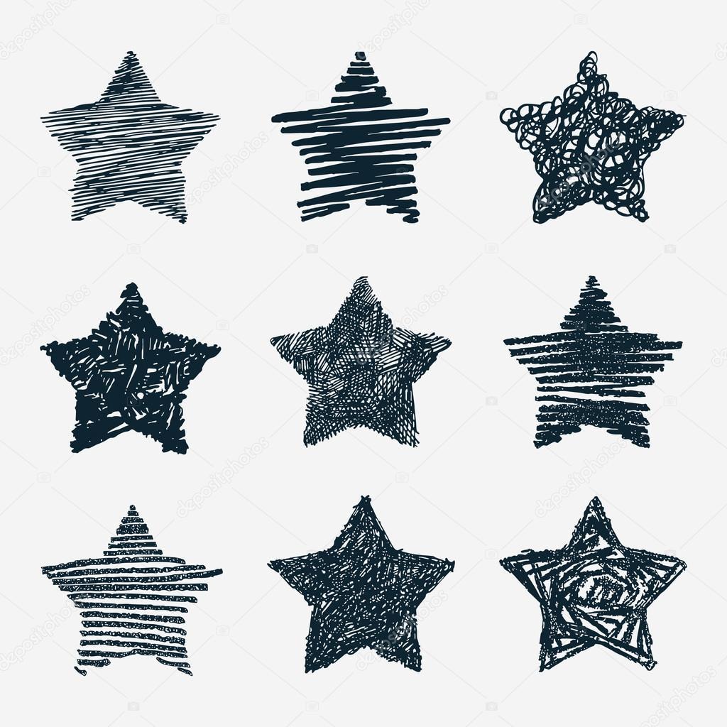 Drawn stars #51283747 Vector drawn stars drawn