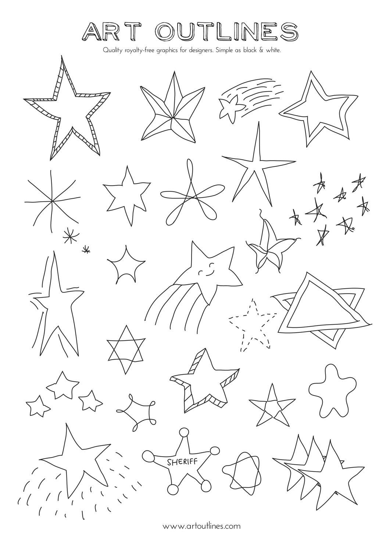 Drawn stars line Drawn Stars Hand Like 29