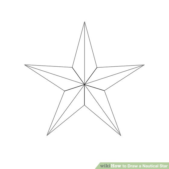 Drawn stars nautical 5 Steps a Pictures) 1
