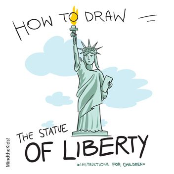 Drawn statue of liberty Pinterest Liberty Statue 25+ ideas