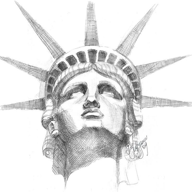 Drawn statue of liberty TattooFace bp SketchSketch Statue com/