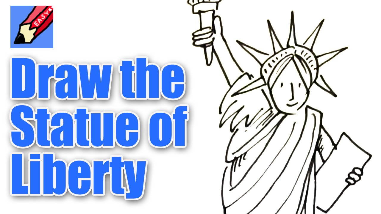 Drawn statue of liberty Of of Liberty Easy Real