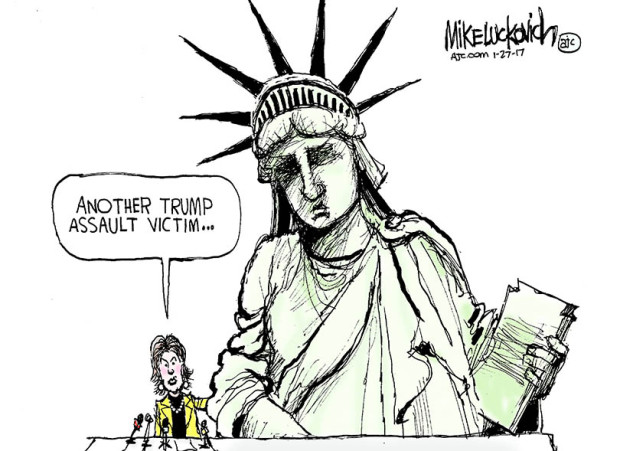 Drawn statue of liberty cartoon Of the Statue Trump featuring