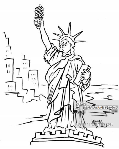 Drawn statue of liberty cartoon Funny pictures Of 118 Statue