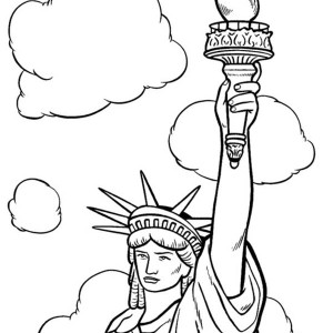 Drawn statue of liberty coloring page 9 Coloring America coloring Coloring