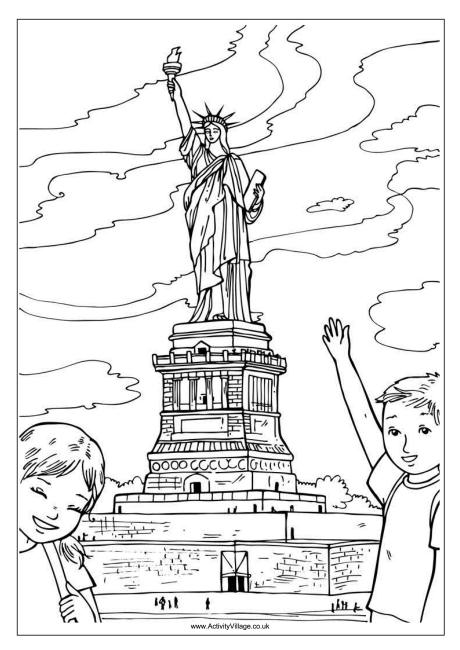 Drawn statue of liberty coloring page  Colouring of Liberty Statue
