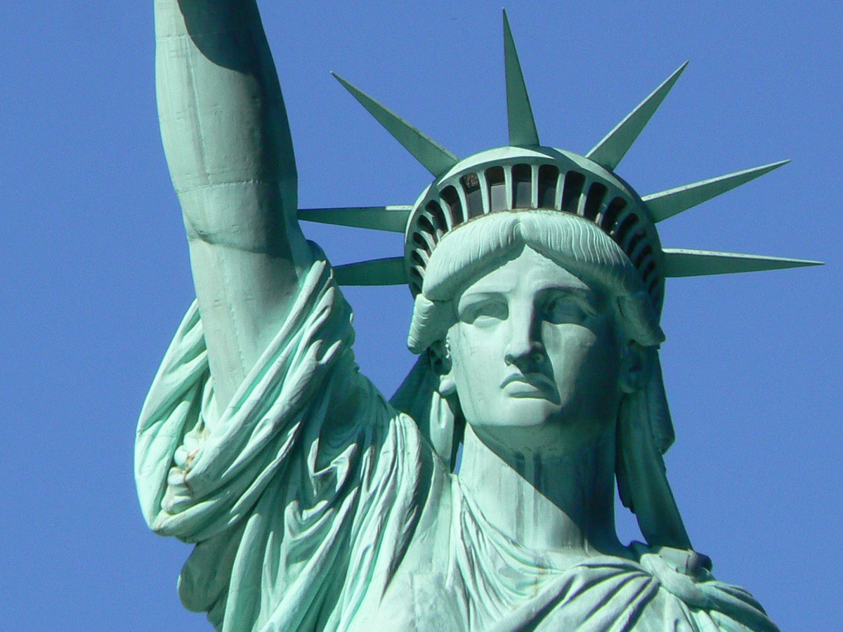 Drawn statue of liberty crown A Business Muslim  Liberty