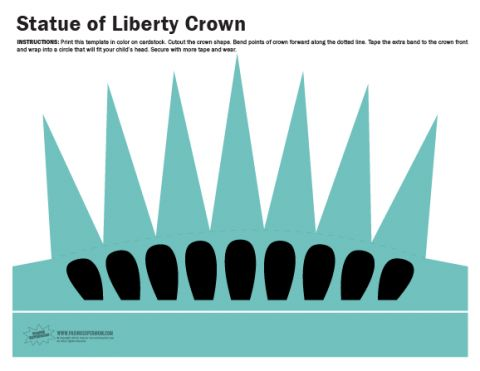 Drawn statue of liberty crown Of crown liberty Free Crown