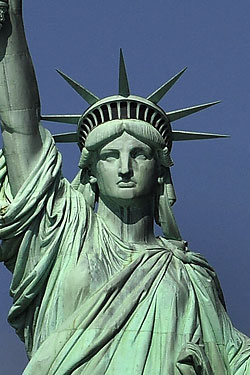 Drawn statue of liberty crown Closing Renovation for Statue for