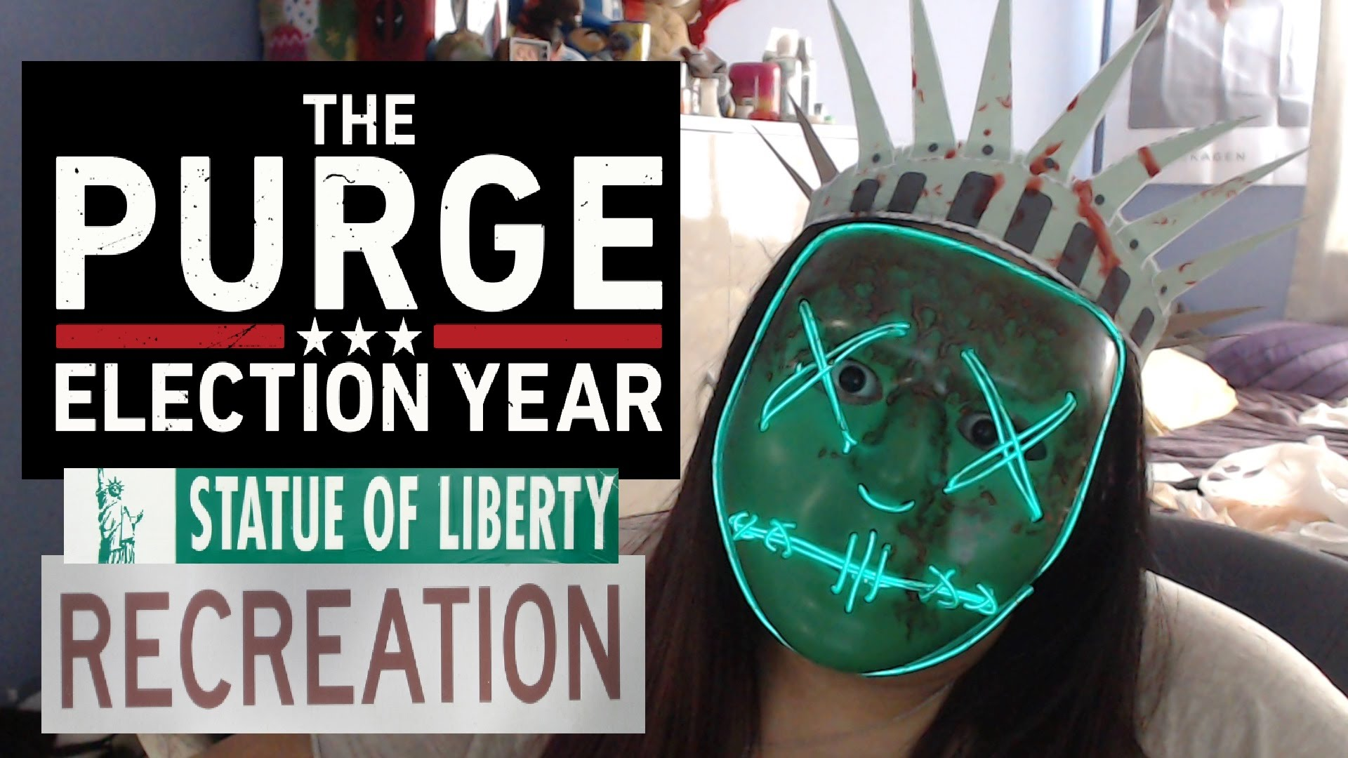 Drawn statue of liberty diy Of YouTube of The purge
