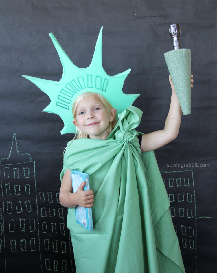 Drawn statue of liberty diy Minute The Rabbit minute Halloween