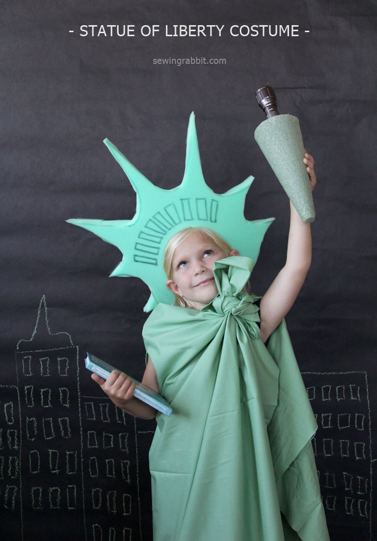 Drawn statue of liberty diy Of of Costume easy Halloween