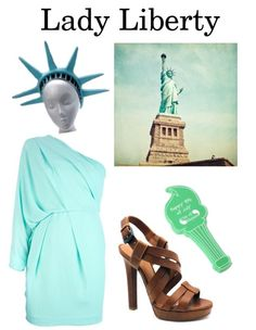 Drawn statue of liberty diy A Homecoming Statue of Costume