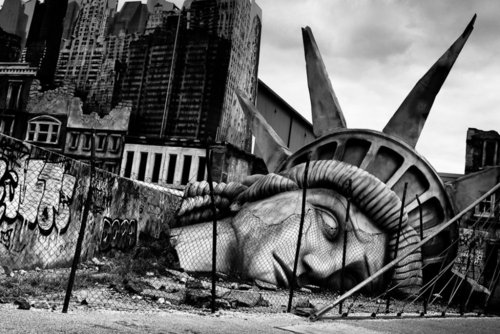 Drawn statue of liberty fallen Were purposes that Statue of
