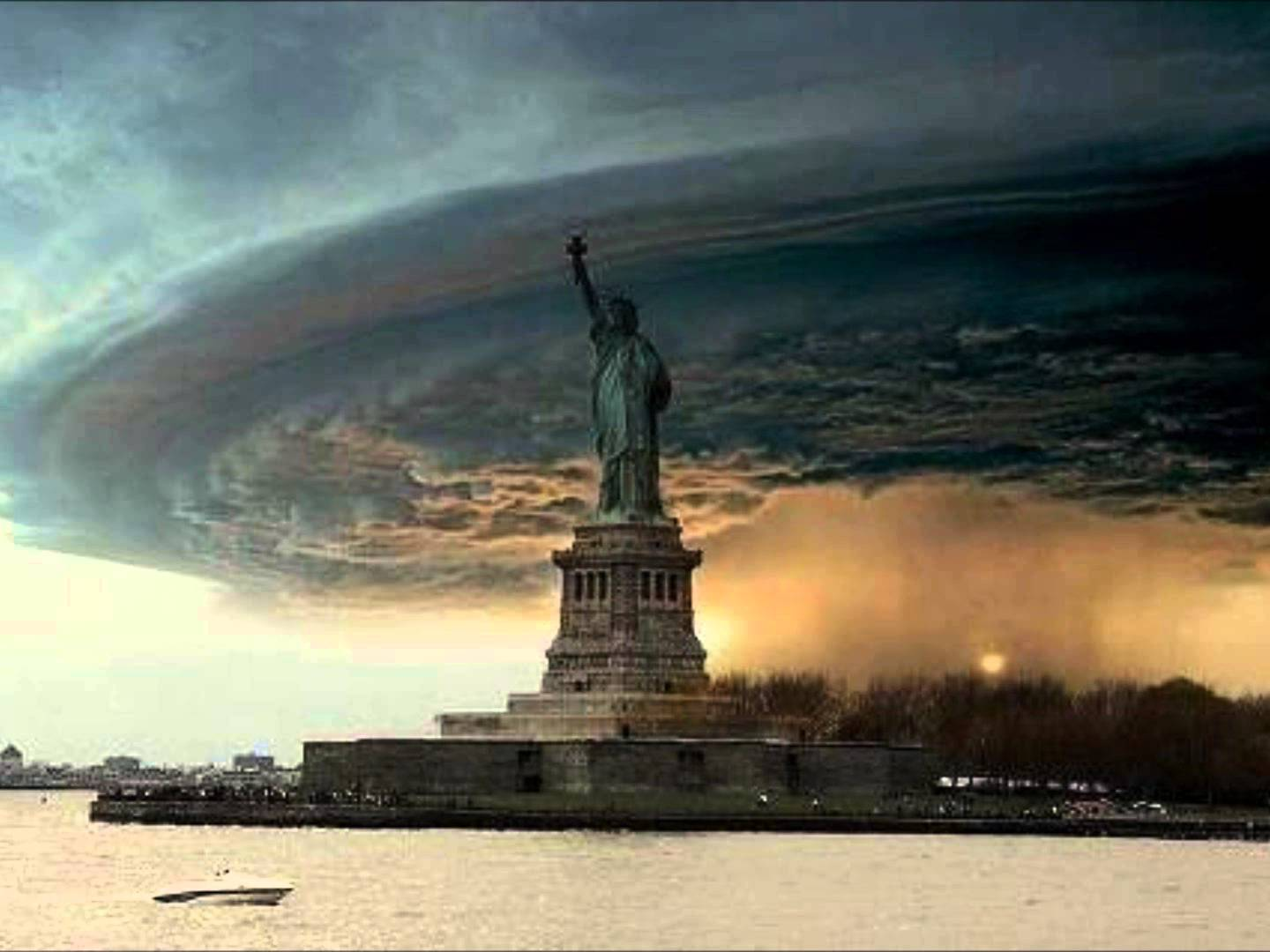 Drawn statue of liberty fallen The Hits Sandy Sandy!) Massive
