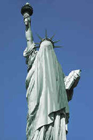 Drawn statue of liberty fallen Lady for for Knish: Zero