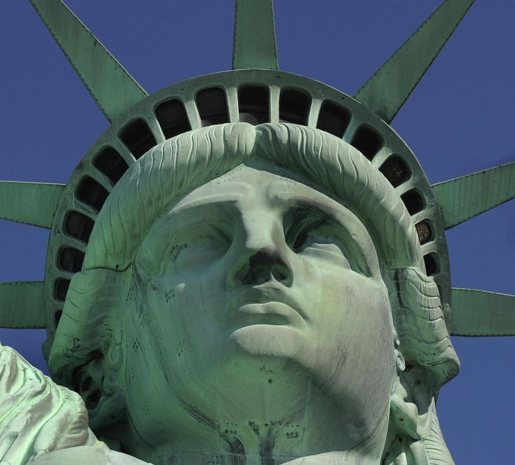 Drawn statue of liberty fallen Years York 130 Statue at