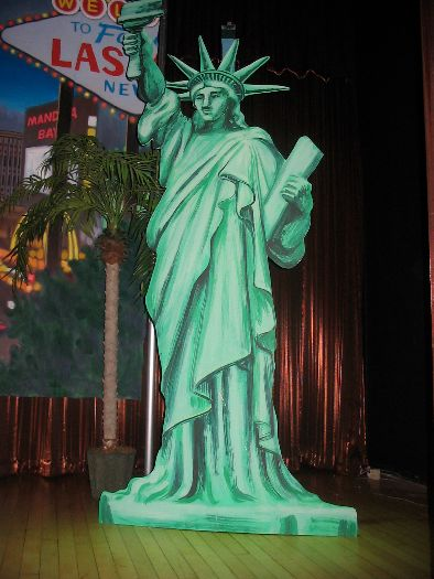 Drawn statue of liberty inflatable Backdrops Props Party Rentals Props