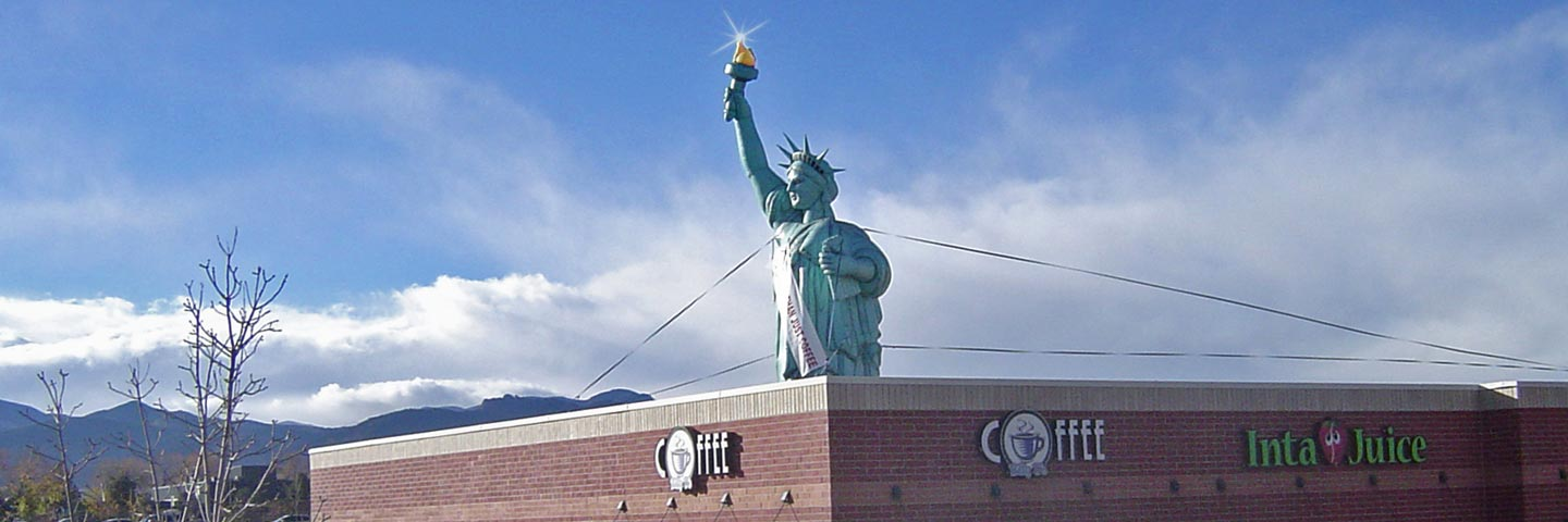 Drawn statue of liberty inflatable CO Statue Spot Advertising Promotions