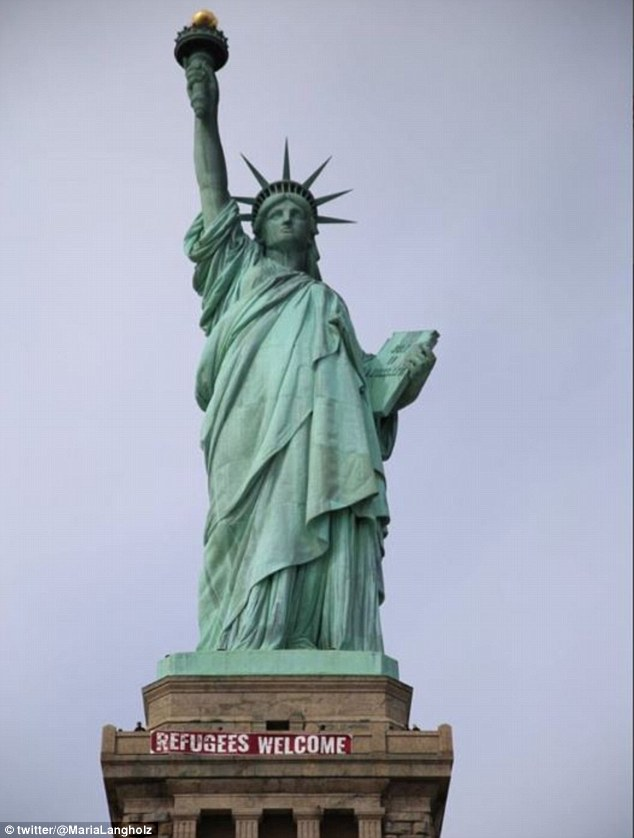Drawn statue of liberty inflatable  of Daily released State
